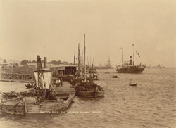 Rangoon River. The Moulmein steamer arriving